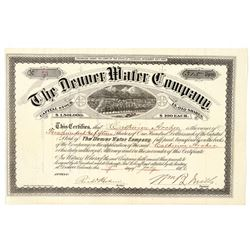Denver Water Company Stock Certificate  (91776)