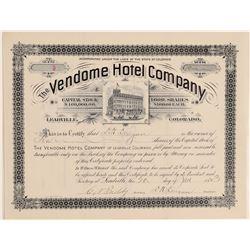 Vendome Hotel Company  (104909)