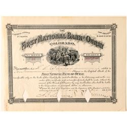 First National Bank of Ouray Stock Certificate  (91788)