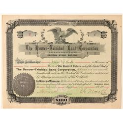 The Denver-Trinidad Land Corporation Stock Certificate   (91787)