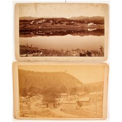Cabinet Cards of Western Town Scenes  (77574)