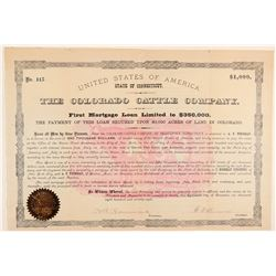Colorado Cattle Company Bond  (91809)