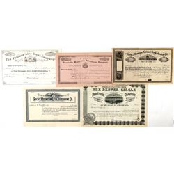 Group on Non-Mining Colorado Stock Certificates  (91779)