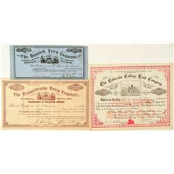 Three Colorado Land Company Stock Certificates  (91780)