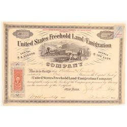 United States Freehold Land and Emigration Certificate  (104746)