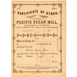 Pacific Sugar Mill Stock Certificate  (101560)