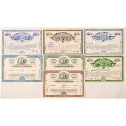 Castle & Cooke, Ltd. Stock Certificate Collection  (101520)
