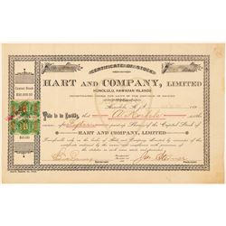 Hart & Company Stock Certificate (Candy & Ice Cream)  (101556)