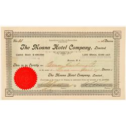 The Moana Hotel Company Stock Certificate  (101551)