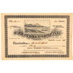 Oahu Market Company, Limited Stock Certificate  (101535)