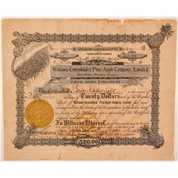 Wahiawa-Consolidated Pine-Apple Co. Ltd. Stock Certificate  (101546)