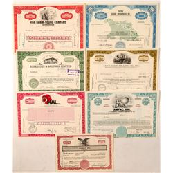 7 Modern Hawaii Stock Certificates  (101539)