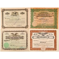 Hawaii Investment Company Stock Certificates  (101518)