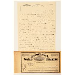 Candelaria, Nevada Water and Mining - Stock and Letterhead  (99971)