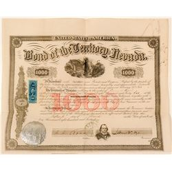 1864 Nevada Territory Bond signed by Governor Nye--Number 1  (91863)