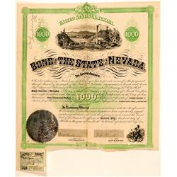1867 Nevada State Bond signed by Governor Blasdel  (91862)