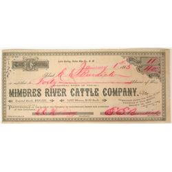"""Mimbres River Cattle"" Company Stock  (90556)"