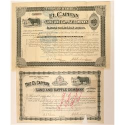 El Capitan Land and Cattle Company Bond  (90557)