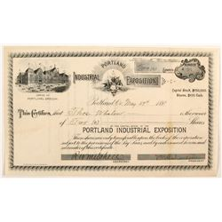 Portland  Industrial Exposition stock  (82741)