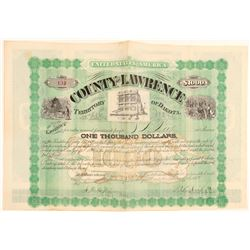 $1,000 Lawrence County, Dakota Territory Bond  (100811)