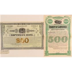 Two Lawrence County, Dakota Territory Bonds  (100813)