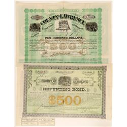 Two Lawrence County, Dakota Territory Bonds  (100810)