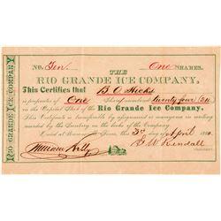Rio Grande Ice Company Stock Certificate  (101565)