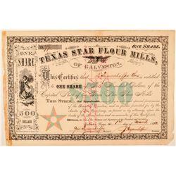 Texas Star Flour Mills Stock Certificate  (101564)