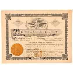Colville & Columbia River Transportation Co. Stock Certificate  (100973)