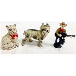 Cast Iron Figures (3)  (87412)