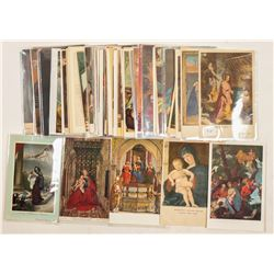 Religious Post Cards Chromolitho's & RPC's  (102797)