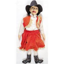 Ventriloquist Doll / Western Cowgirl   (100715)