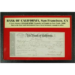 Bank of California Telegraphic Transfer of Funds  (56048)