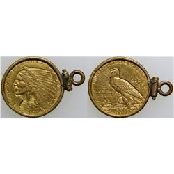 $2 1/2 Indian Head Gold Piece in bezel  (103090)