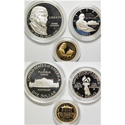 Bill of Rights Commemorative 3 Coin Proof Set  (75538)