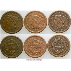 California Gold Rush Era Large Cent Collection  (103098)
