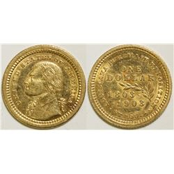 Louisiana Purchase Exposition Gold Dollar  (101699)