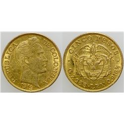 Cinco Pesos Gold Coin  (103115)