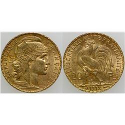 Rooster Twenty Franc Gold Piece  (103101)
