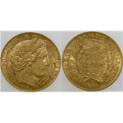 Ten Franc Gold Piece  (103100)