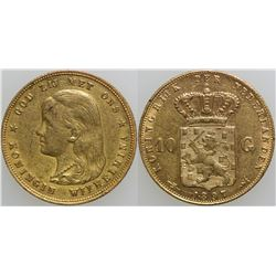 10 Gulden Netherlands Gold Coin  (101712)