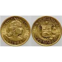 1/2 Libre Gold Coin  (103116)