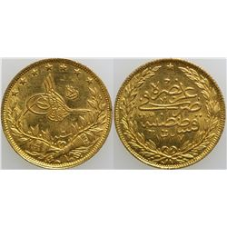 100 Kurush Gold Turkish Coin  (101709)