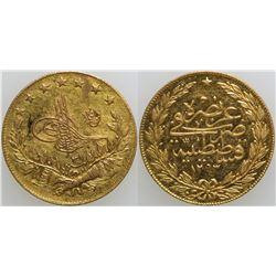 100 Kurush Gold Turkish Coin  (101710)