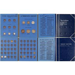 Two Blue Whitman Folders with Coins  (101232)