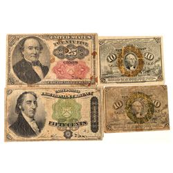 Fractional Currency / 4 items.   (102109)