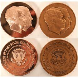 Nixon/Agnew Inauguration Medals (2)  (101728)