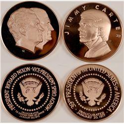 Nixon/Agnew Inauguration Medals (2)  (101729)