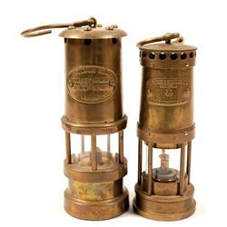Brass Safety Lamps (2)  (102641)