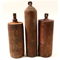 Mercury Flasks (3) from New Almaden, California  (130132)